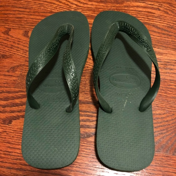 88e7de663b3ed4 Havaianas Other - Havaianas Men s Dark Green Flip Flops